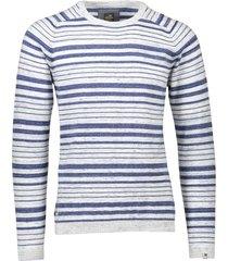 vanguard gestreepte trui blauw gestreept