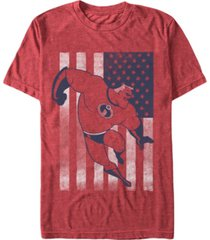 disney pixar men's the incredibles american flag short sleeve t-shirt