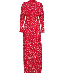 gathers gown maxi dress galajurk rood by ti mo