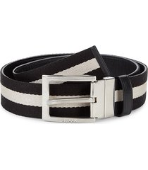 bally men's tonni striped belt - black - size 46