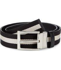 bally men's tonni striped belt - black - size 48