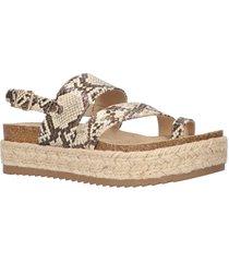 women's bella vita rosita slingback platform sandal, size 8 n - beige