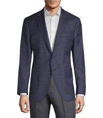 textured wool & silk suit jacket