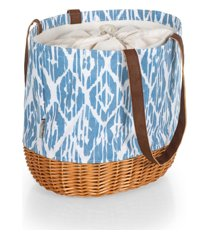 picnic time coronado canvas and willow basket tote