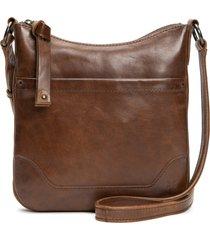 frye melissa swing leather crossbody bag - brown