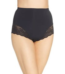 women's natori plush high waist shaping thong, size xx-large - black
