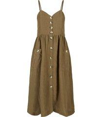 jurk katoen-linnenblend cami