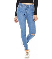 jeans skinny básico azul corona