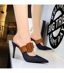 mujer taco zapatos sandalias de tacon fashion-cool-negro