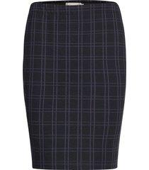 frmecheck 4 skirt kort kjol blå fransa