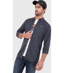 camisa azul navy tommy jeans