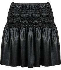 self-portrait shirred mini skirt