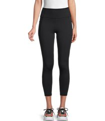 x by gottex women's vanessa ankle-length leggings - berry - size m