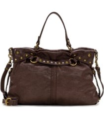 patricia nash vintage washed leather barbery satchel