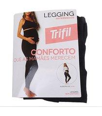 meia calça trifil legging maternidade sem costura feminina