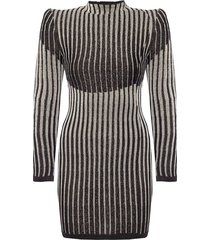 ribbed dress with long sleeves