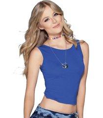 blusa azul atypical