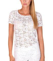 blouse lisca strandtop korte mouwen florida wit