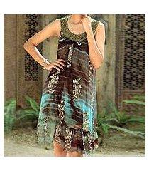 beaded dress, 'jaipuri mystique' (india)