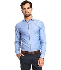 camisa azul tommy hilfiger modernwashed oxford nfw6
