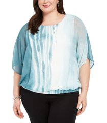alfani plus size batwing-sleeve blouse, created for macy's
