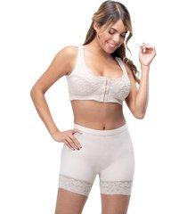 faja panty levanta cola control de abdomen moldeadora para mujer color beige