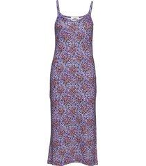 1x1 happy flower delkissa jurk knielengte paars mads nørgaard