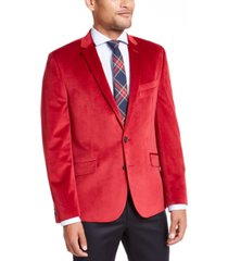 billy london men's slim-fit velvet sport coat