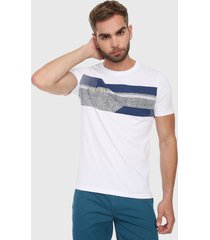 camiseta blanco-azul-gris jack & jones