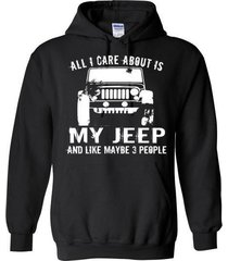 all i care about is my jeep blend hoodie