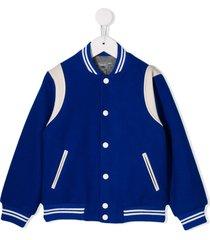 bonpoint baseball jacket - blue