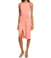 women's chelsea28 sleeveless twist detail dress, size x-small - coral
