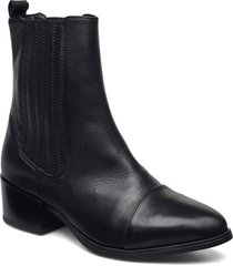 julia long shoes boots ankle boots ankle boot - heel svart pavement