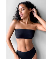womens seamless nights bandeau bralette - black