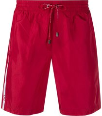 dolce & gabbana drawstring-waist swim shorts - red