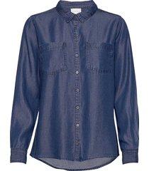 15 the denim shirt långärmad skjorta blå denim hunter