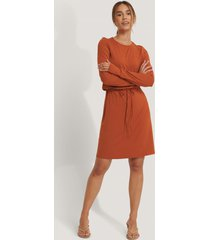 na-kd drawstring jersey dress - orange