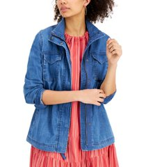 style & co chambray twill jacket, created for macy's