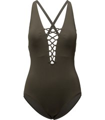 x-back 1pcs badpak badkleding zwart michael kors swimwear