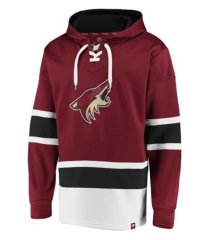 majestic arizona coyotes men's power play lace up hoodie