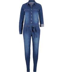 tuta in jeans elasticizzato (blu) - john baner jeanswear