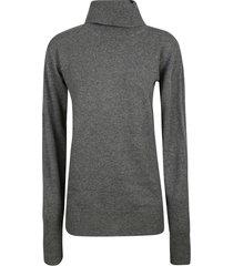 jil sander plain ribbed sweater
