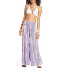 women's surf gypsy tie dye wide leg cover-up pants
