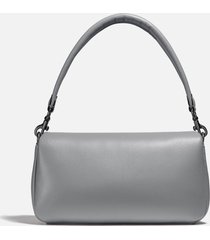 coach women's leather covered c closure pillow tabby shoulder bag 26 - granite