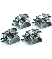 michael aram black orchid napkin ring set
