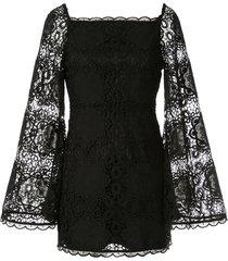 alice mccall diamond veins mini dress - black