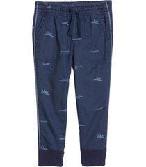 pantalón jogger boy forrado azul gap