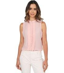blusa manga sisa alforzas color rosa 137309 charby