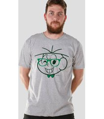 camiseta bandup! turma da mônica cebolinha nerd