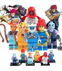 custom 6pcs thundercats set minifigure lion-o panthro tv series fits lego
